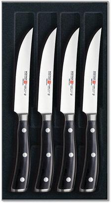 Wusthof Classic Ikon Steak Knives, 4 Piece Set