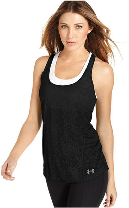 Under Armour Top, Sleeveless Achieve Burnout Tank