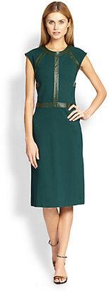 Cynthia Rowley Leather-Detail Dress