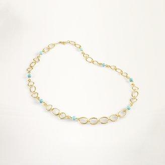 Ralph Lauren Gold & Turquoise Link Necklace