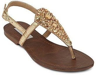 JCPenney Olsenboye® Season Rhinestone-Detailed Flat Thong Sandals
