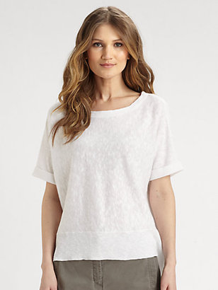 Eileen Fisher Linen/Cotton Slub Tee