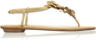 Rene Caovilla Rosette-embellished studded leather sandals