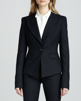 Rachel Zoe Christina Fitted Pinstripe Jacket