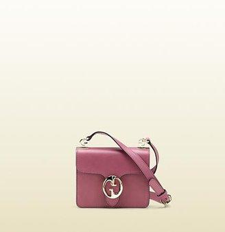 Gucci 1973 Mauve Color Leather Shoulder Bag