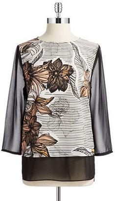 DKNY DKNYC Floral Blouse