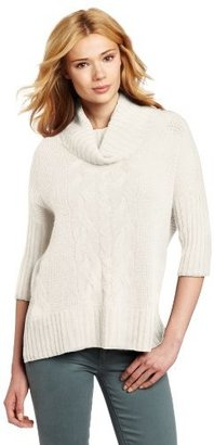 Design History Women's 100% Cashmere Cowl-Neck Boxed-Angle Sweater