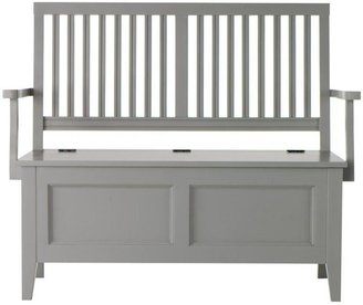 Martha Stewart Living Solutions 47 in. W Cement Gray Wood Entry Bench