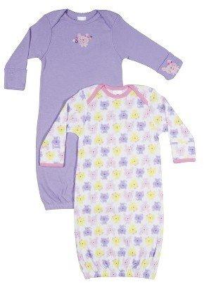Gerber Newborn Girls' 2 Pack Bunny Gown - Pink 0-6 M