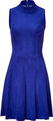 Jitrois Royal blue suede A-line dress