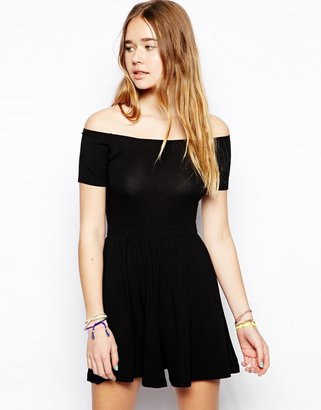 Asos Playsuit With Off The Shoulder Detail