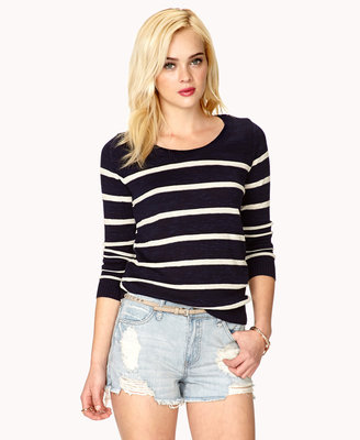 Forever 21 Textured Stripes Top