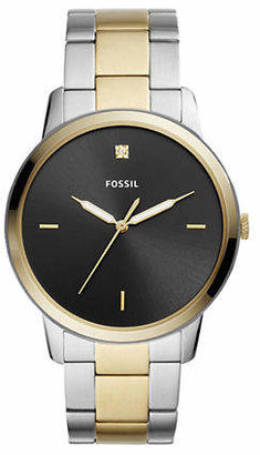 Fossil The Minimalist Carbon Series Three-Hand Two-Tone Stainless-Steel Watch