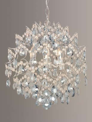 John Lewis & Partners Baroque Crystal Chandelier Ceiling Light, Clear/Blue