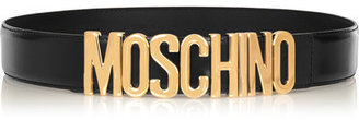 Moschino - Olivia Embellished Patent-leather Belt - Black $295 thestylecure.com