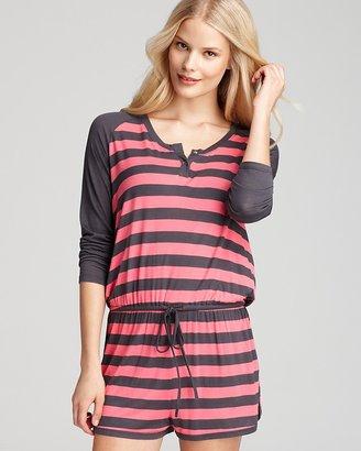 Josie Indo Stripe Long-Sleeve Romper