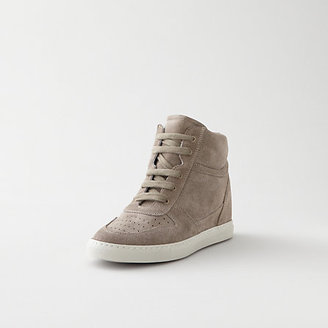 Steven Alan WOMAN BY COMMON PROJECTS b-ball suede wedge sneaker