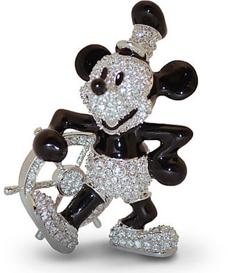 Disney Steamboat Willie Mickey Mouse Figurine by Arribas - Jeweled