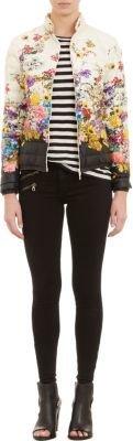 Moncler Wildflower-Print Alisia Puffer Jacket