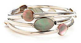 Kenneth Cole Silvertone Shell Bead Stretch Bracelet Set
