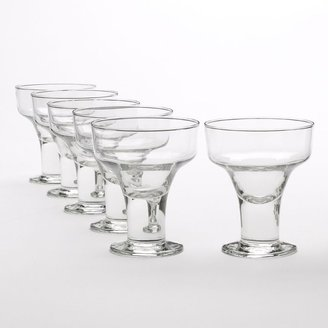 Libbey cool cocktails urban edge 6-pc. margarita glass set
