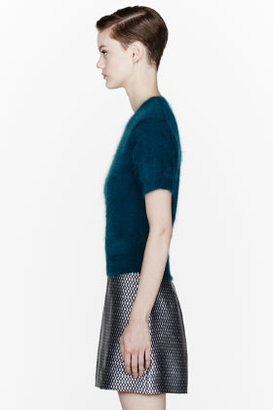 Marc Jacobs Teal angora cropped sweater
