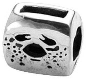 Prerogatives Sterling Zodiac Sign Antiqued Bead
