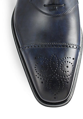 Saks Fifth Avenue Collection Leather Brogue Oxfords