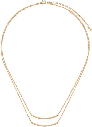 Topshop Double row tube necklace