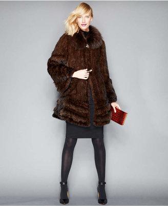 The Fur Vault Fox-Fur-Trimmed Mink Fur Swing Coat $2,995 thestylecure.com