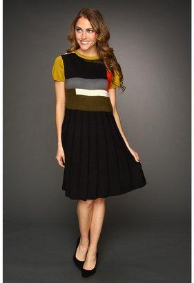 Vince Camuto Cap Sleeve Sweater Dress (Black/Multi) - Apparel