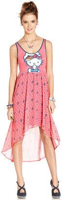 Hello Kitty Juniors Dress, Sleeveless Printed High-Low