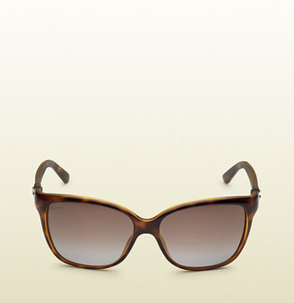 Gucci Dark Tortoiseshell Cat-Eye Sunglasses