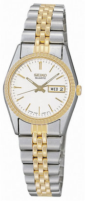 Seiko Women's Stainless Steel Two-Tone Watch SWZ054 $295 thestylecure.com