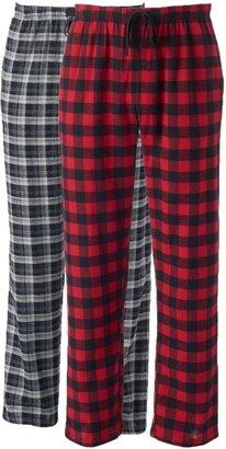 Hanes Men's 2-pk. Plaid Flannel Pajama Pants