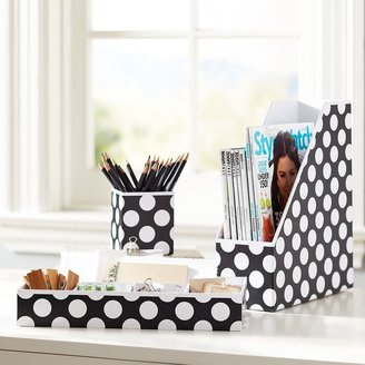 STUDY Printed Desk Accessories - Black Dottie