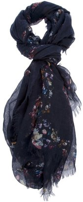 Alexander McQueen floral skull scarf