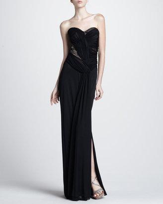 J. Mendel Strapless Bead-Inset Gown