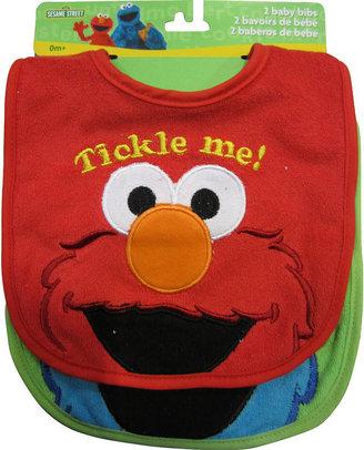 Pacesetter Sesame Street 2 Pack Character Face Bibs - Elmo/Cookie Monster