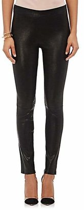 J Brand Women's Leather Leggings - Black