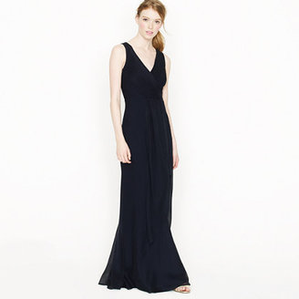 J.Crew Evie long dress in silk chiffon