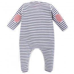 Petit Bateau Blue and White Stripe Babygrow