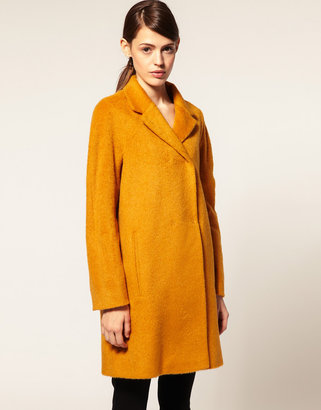 Asos Formal Coat In Brushed Wool