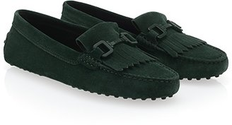 Tod's Gommino Fringed Loafers in Suede