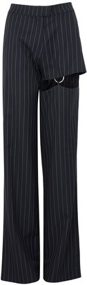 Nafsika Skourti Naughty Cut-out Wool-blend Trousers
