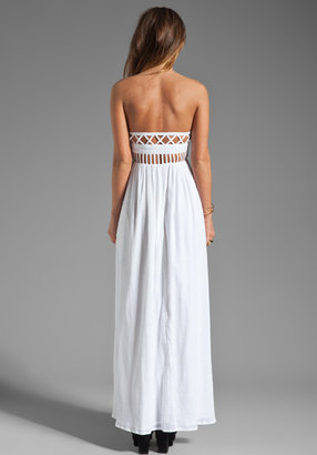 Mara Hoffman Lattice Strapless Dress