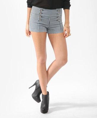 Forever 21 striped matelot shorts