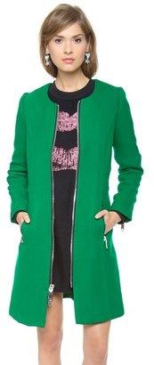 Milly Slim Zipper Coat
