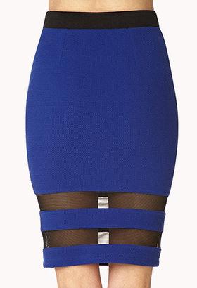 Forever 21 Bold Stripes Knee Length Skirt