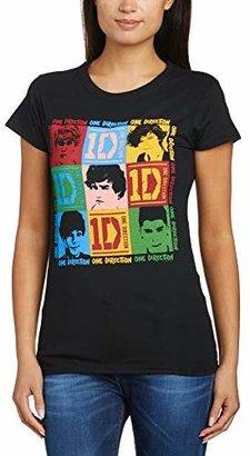 One Direction Women's 9 Squares Short Sleeve Crew Neck T-Shirt,(Manufacturer Size:Medium)